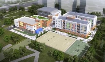 도안호수공원, 2022년 갑천지구 친수구역 초등학교 설립