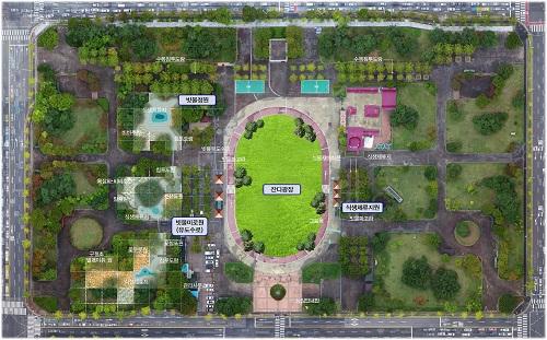 샘머리공원에 빗물체험'물순환 테마파크'조성_샘머리 물순환 테마파크 평면시설계획도.jpg